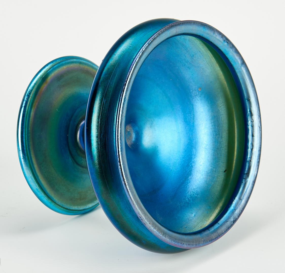 Lot 479: Tiffany Blue Favrile Compote