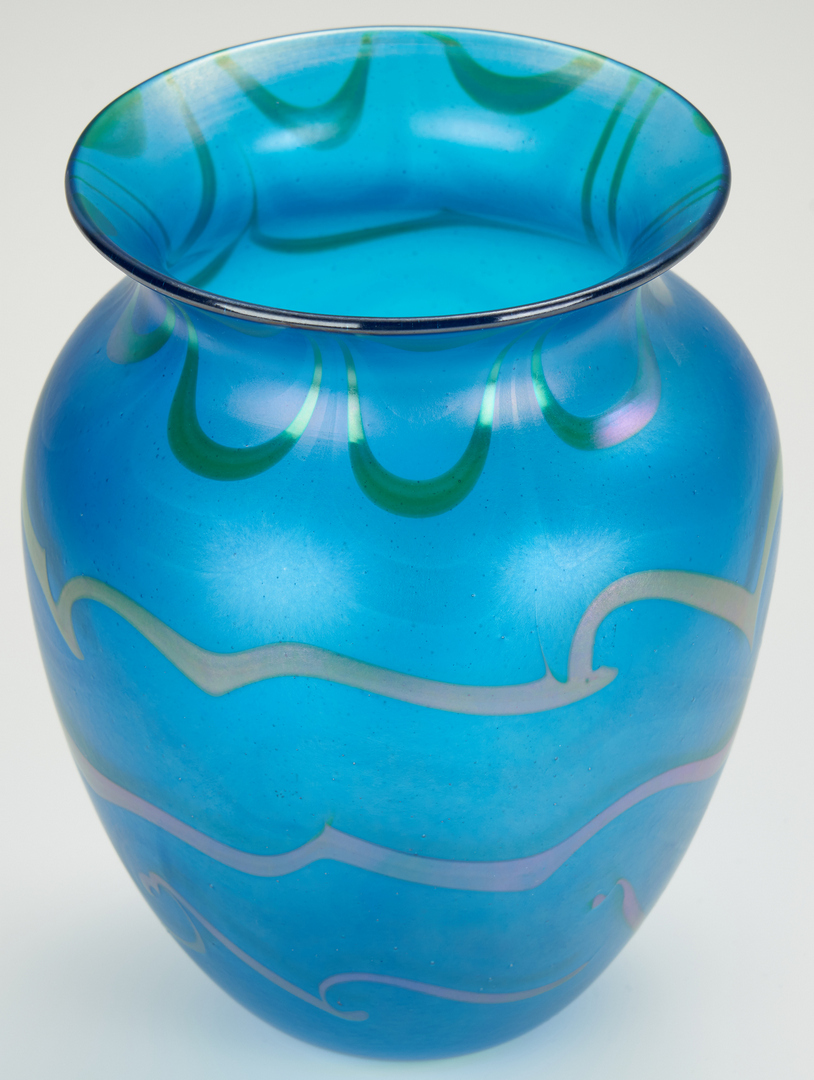 Lot 485: 2 Charles Lotton Art Glass Vases