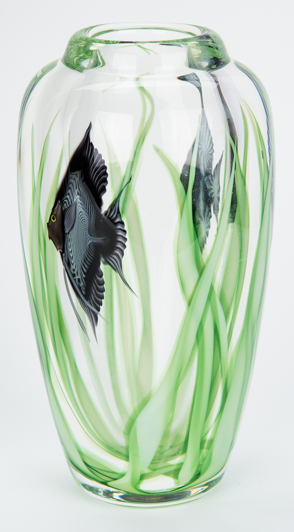 Lot 487: Hawthorne & Nowak Studio Art Glass Vase & Orient and Flume Vase