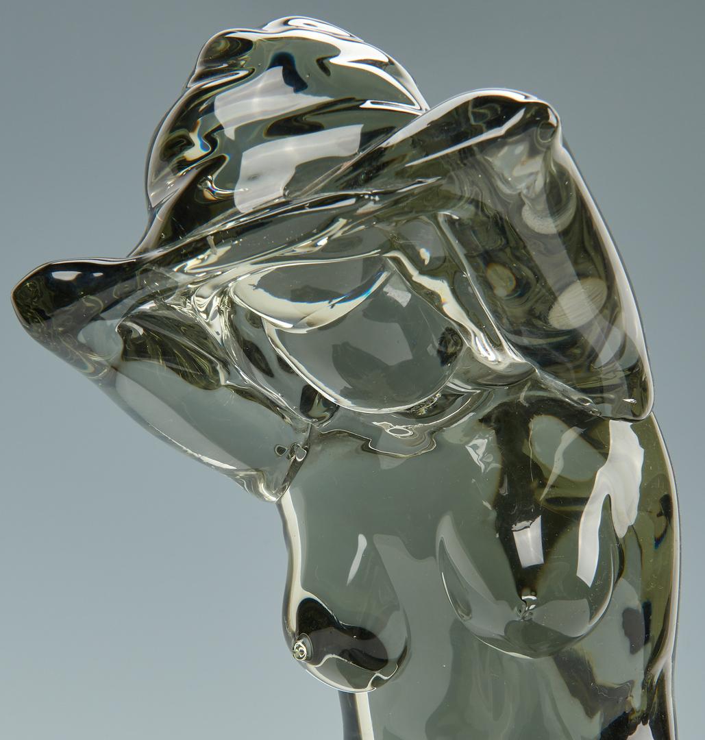 Lot 492: Loredano Rosin Murano Female Nude Art Glass Sculpture