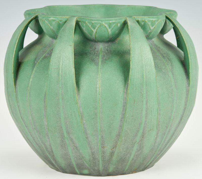 Lot 496: Large Teco Pottery Jardiniere, Model 106