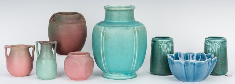Lot 498: 8 20th Cent. Rookwood Pottery Items