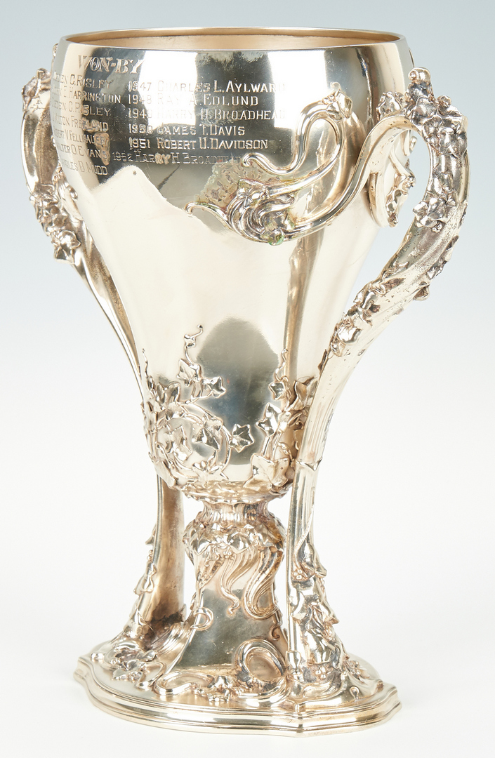 Lot 49: Whiting Art Nouveau Sterling Golf Trophy