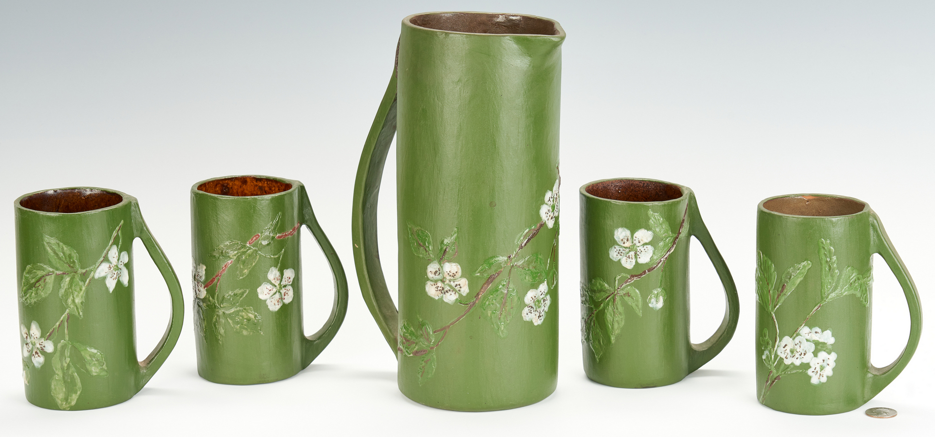 Lot 504: Nonconnah Mugs and Tankard, 5 items