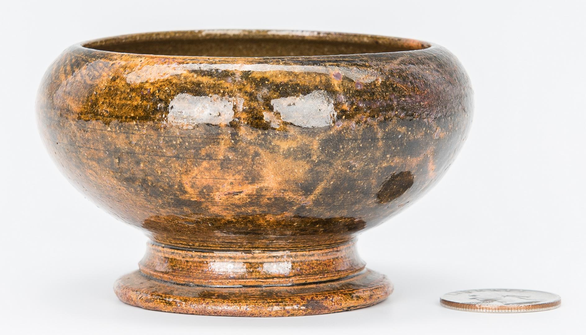 Lot 505: George Ohr Biloxi Pottery Salt Cellar