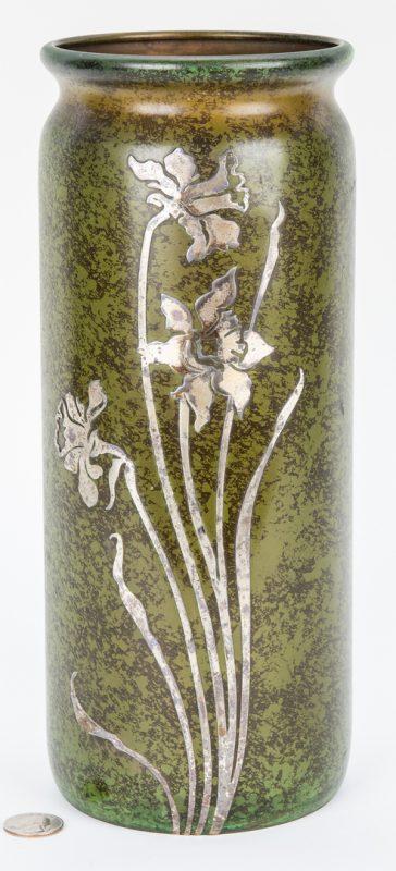 Lot 506: Heintz Mixed Metals Trophy Vase
