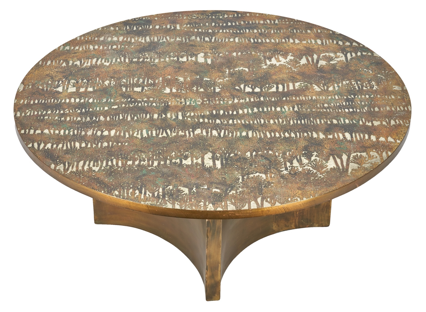"Lot 509: Philip & Kelvin Laverne ""Eternal Forest"" Coffee Table"