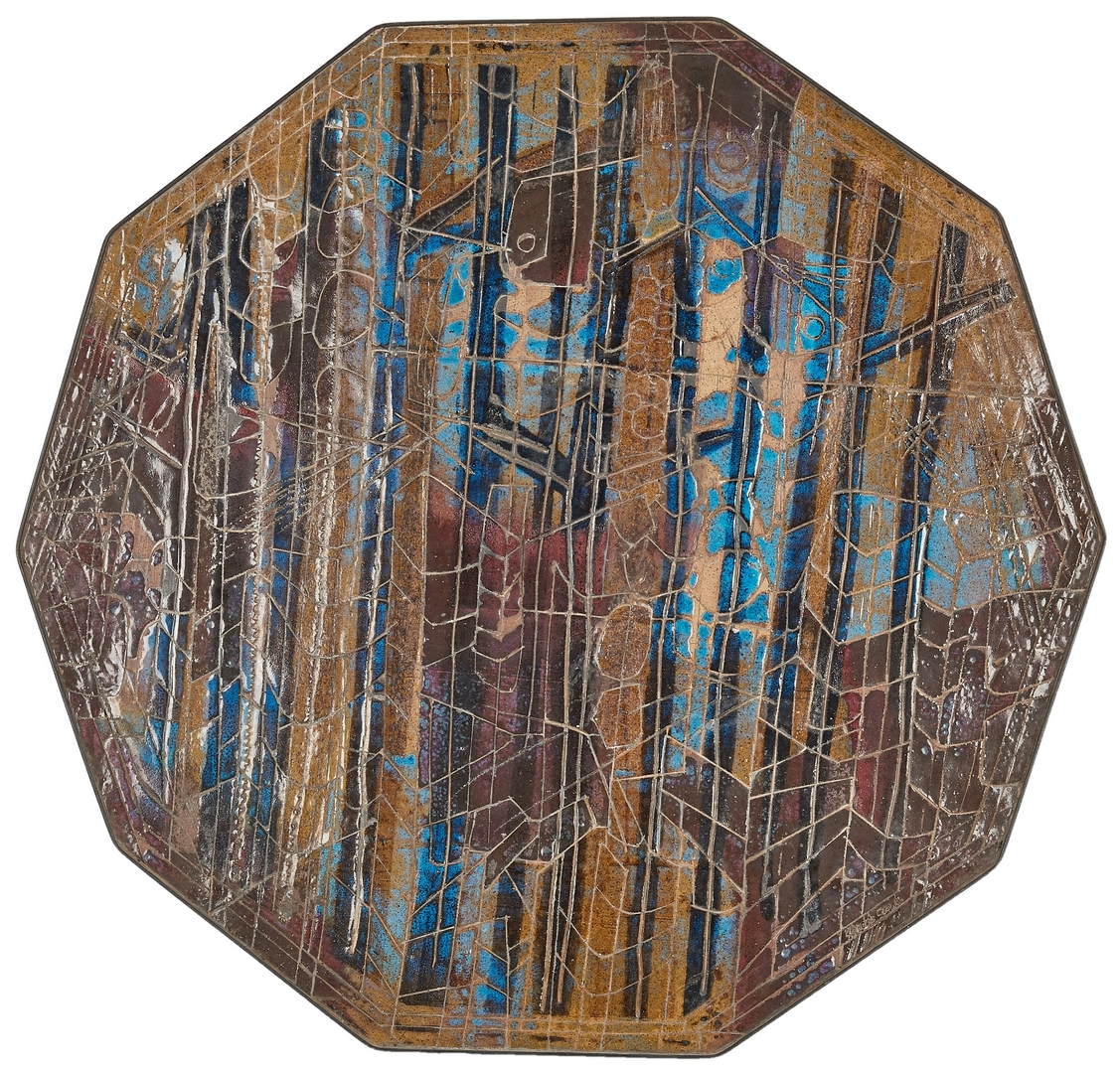 Lot 510: Charles Counts Pottery Decagonal Plaque