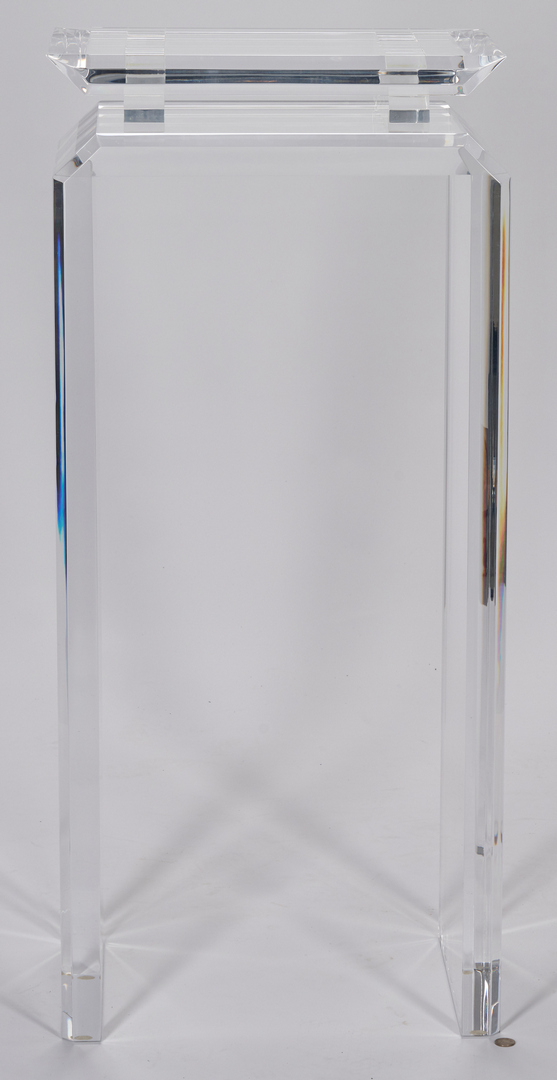 Lot 512: 3 Acrylic or Lucite Pedestals