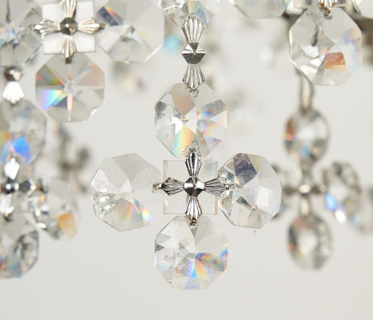 Lot 513: 2 Art Moderne Crystal Chandeliers