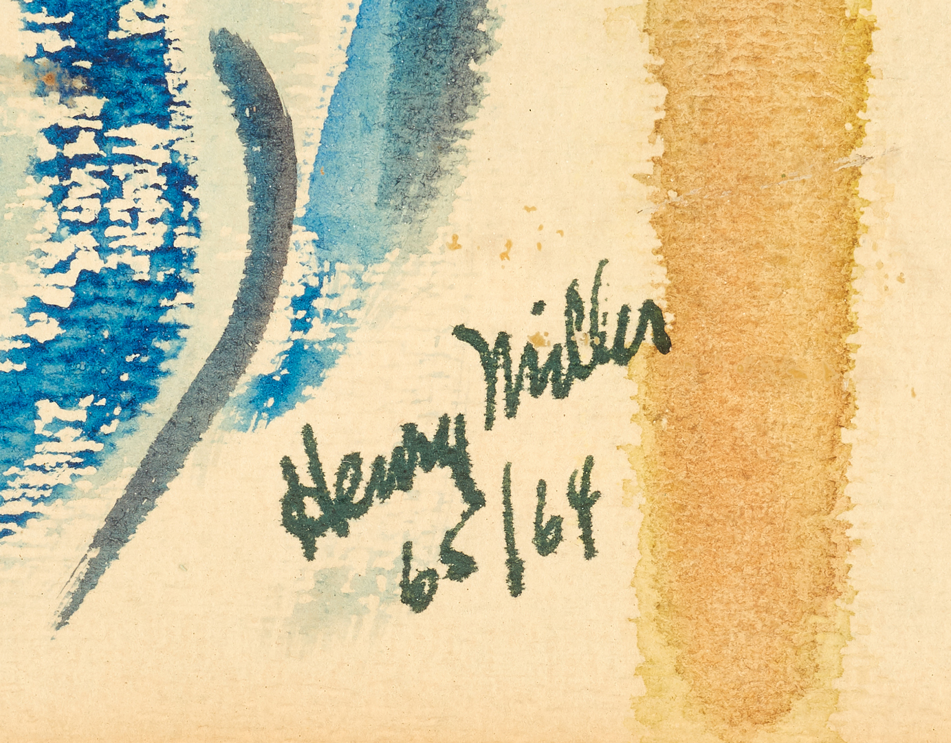 Lot 516: Henry V. Miller Surrealist Watercolor Painting