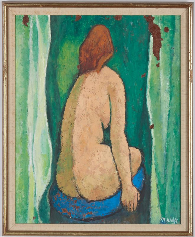 Lot 518: Meyer Wolfe O/B, Nude Painting
