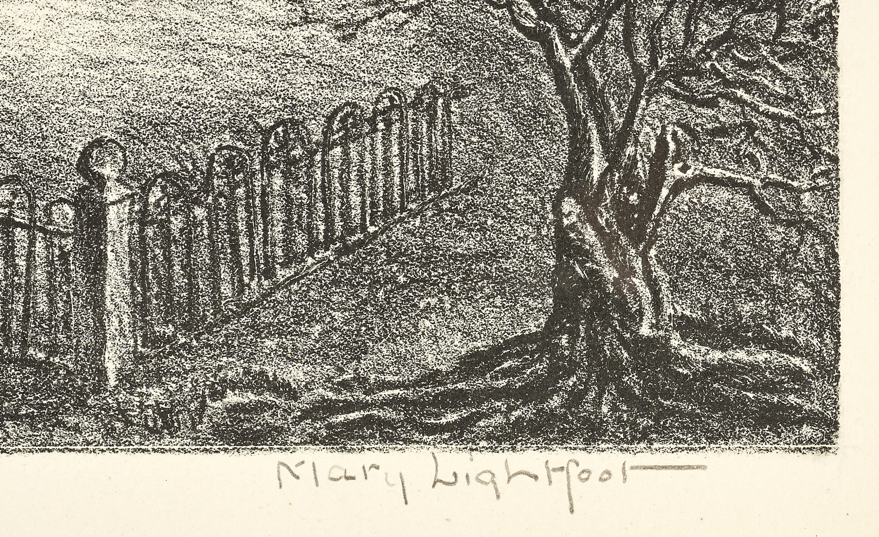 Lot 520: Mary Lightfoot Etching, First Church