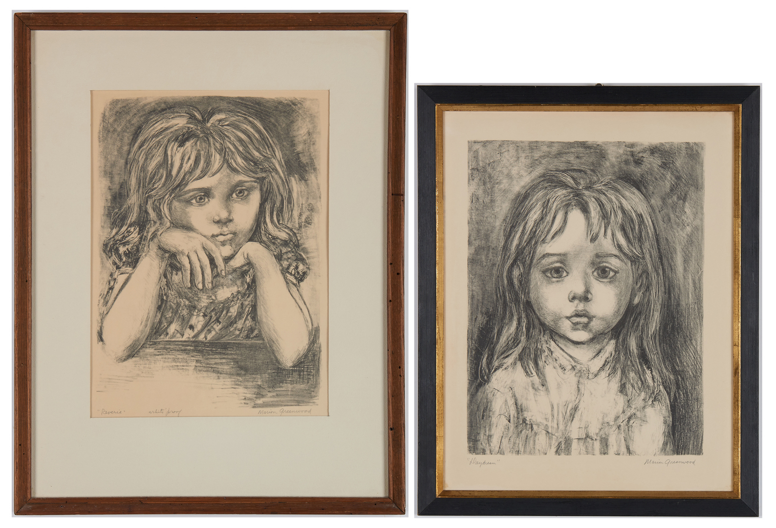 Lot 522: 2 Marion Greenwood Lithographs, incl. AP