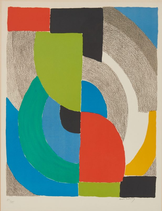 Lot 523: Sonia Delaunay Lithograph, Helice Olympie