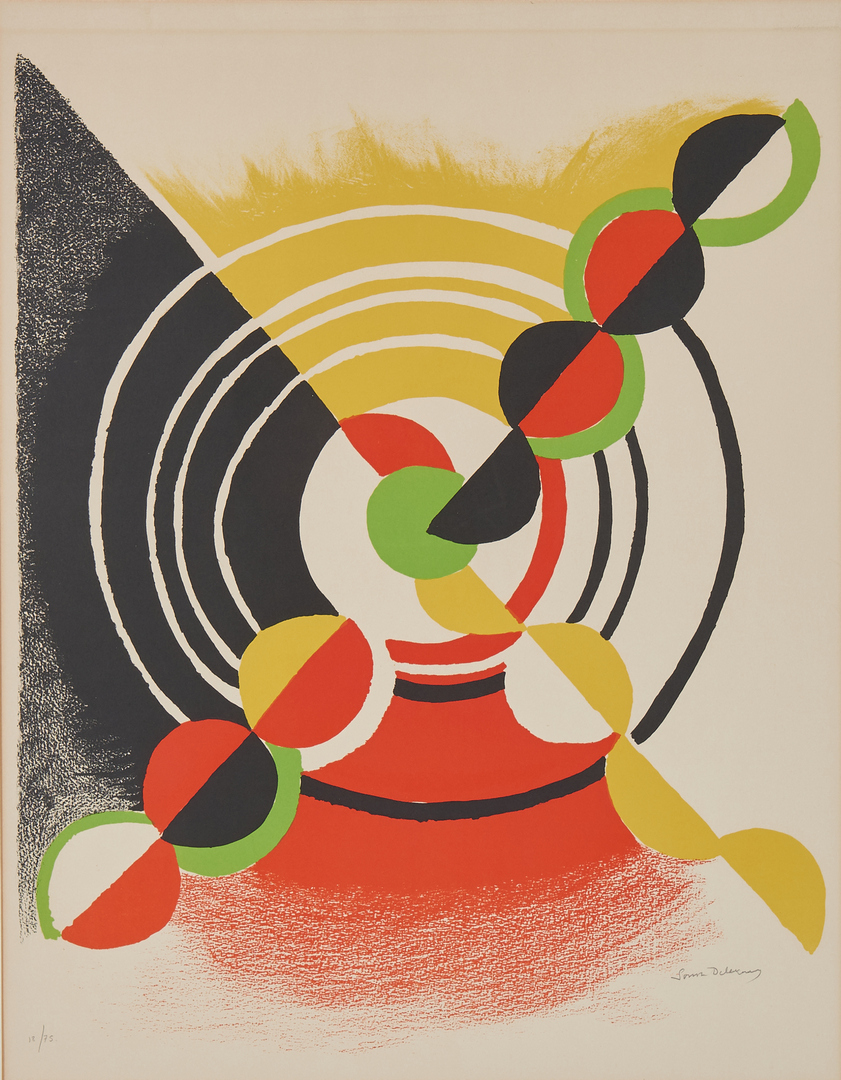 Lot 524: Sonia Delaunay Lithograph, Work