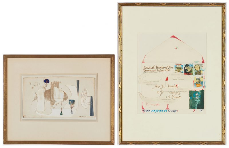 Lot 527: 2 Joseph Downing Abstract Mixed Media Paper Collages