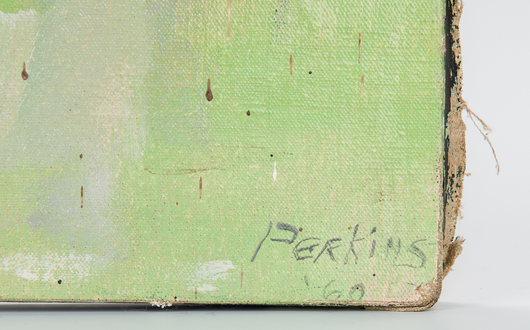 Lot 531: Philip Perkins O/C Abstract Painting