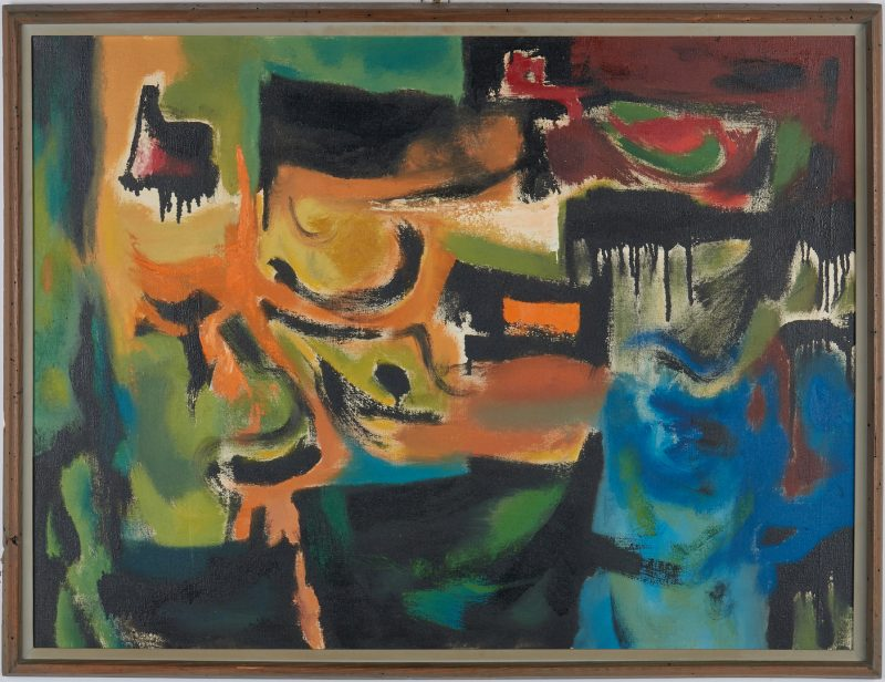 Lot 532: Charles Kermit Ewing O/C Abstract Painting