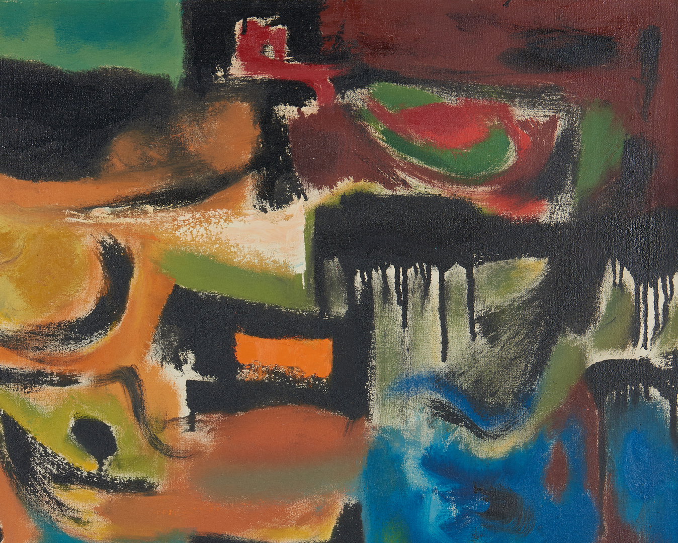 Lot 532: Charles Kermit Ewing O/C Abstract Painting