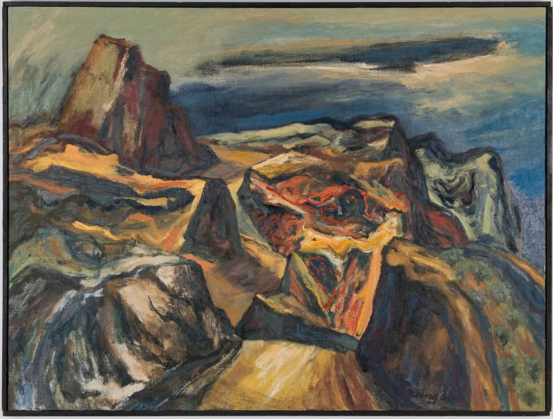 Lot 533: Charles Kermit Ewing Abstract O/C, Road To Granada, Spain