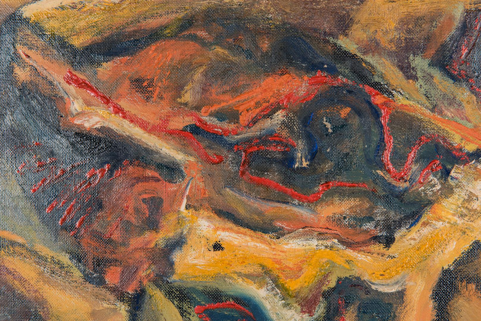 Lot 533: Charles Kermit Ewing Abstract O/C, Road To Granada, Spain