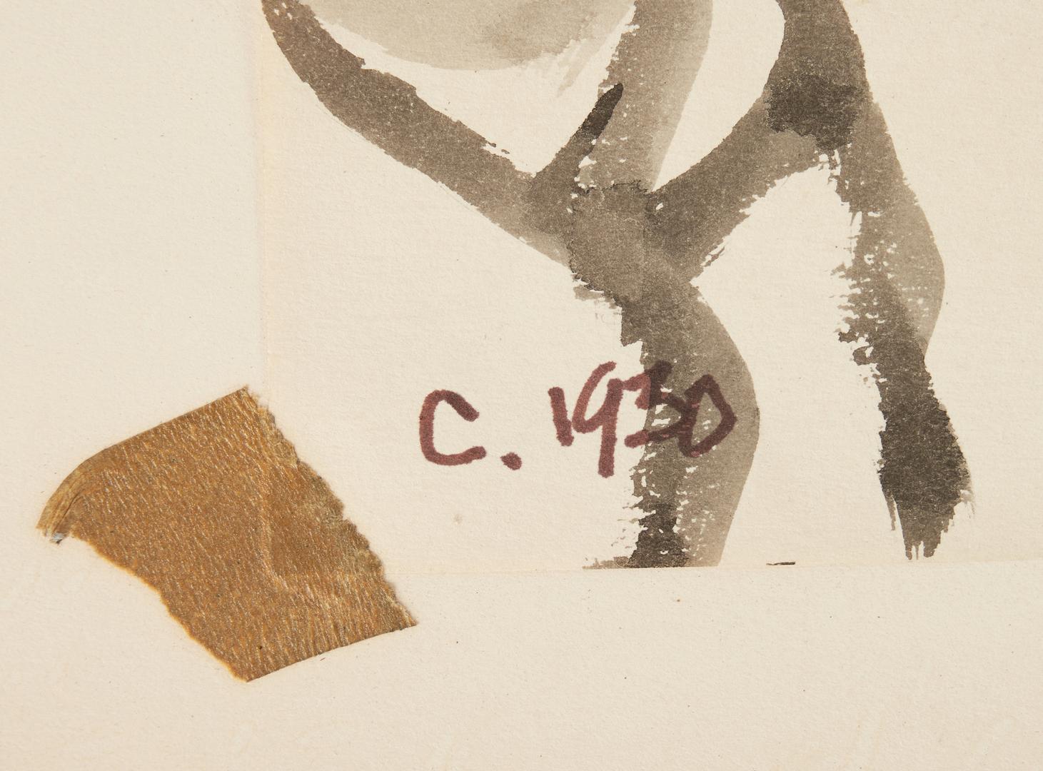 Lot 535: 3 Joseph Delaney Drawings on Paper, incl. Portrait, Nudes
