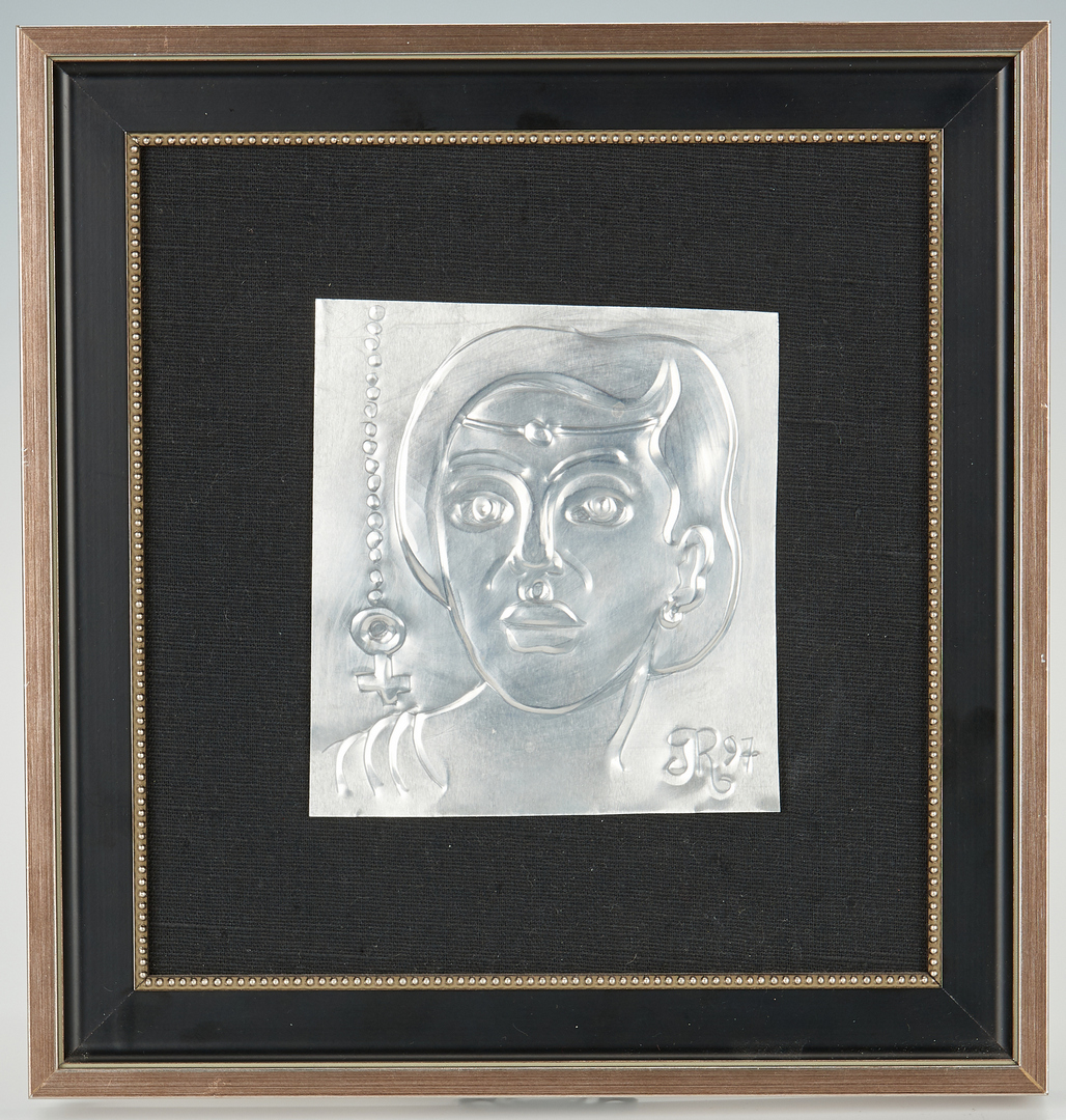 Lot 538: 2 Greg Ridley Framed Metal Plaques
