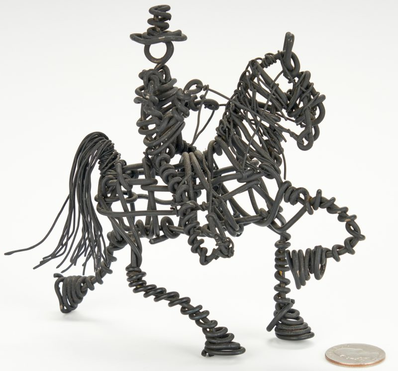 Lot 539: Vannoy Streeter, Wire Figure on Horseback