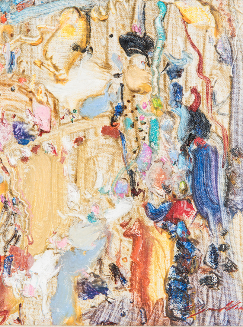 Lot 541: Wayne Wu Oil on Linen, New Years Eve Party