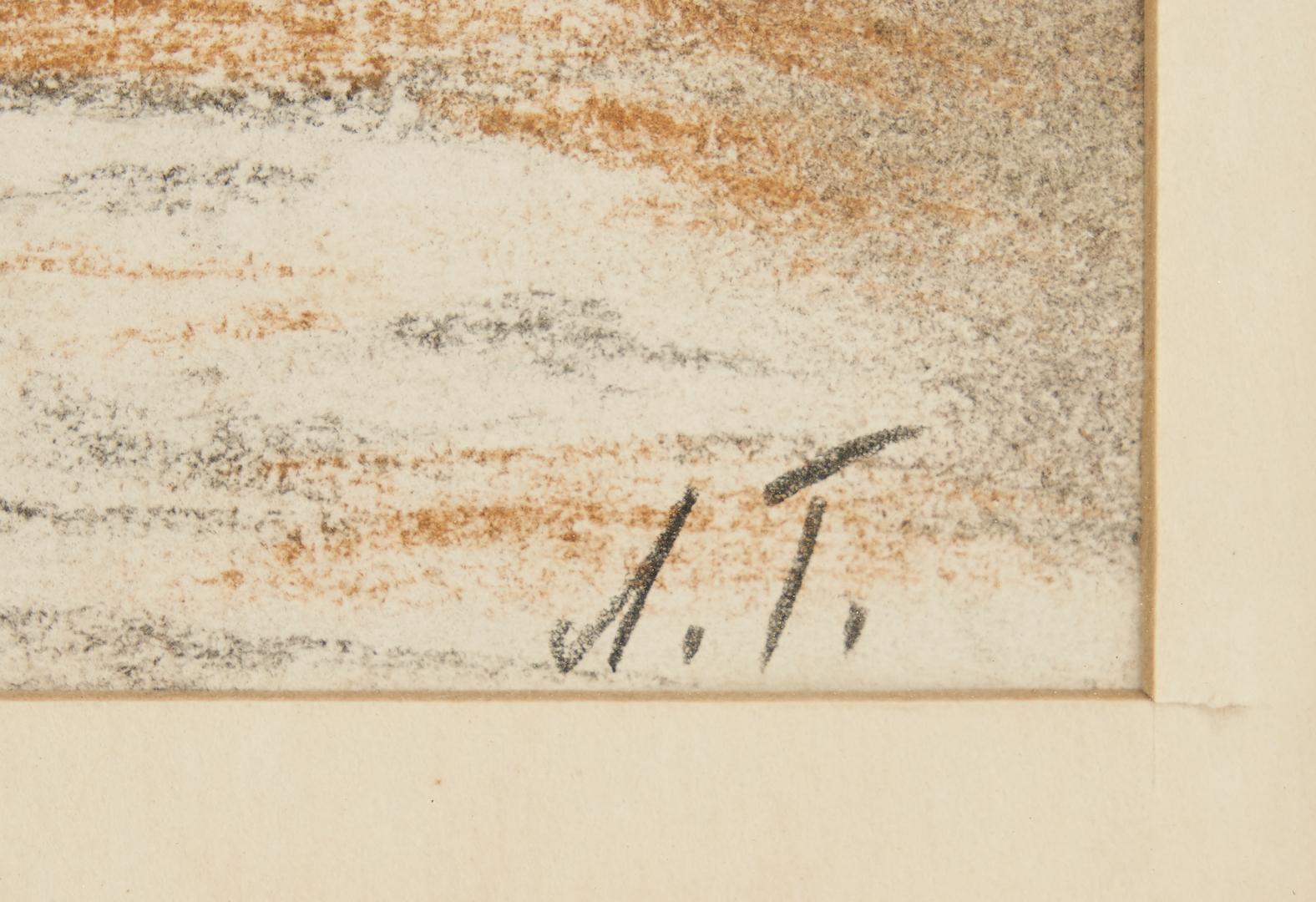 Lot 547: Anna Ticho Painting, Israeli Landscape