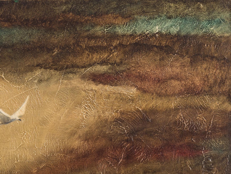 Lot 549: William Wolk O/C, Landscape of Ocean w/ Seagulls