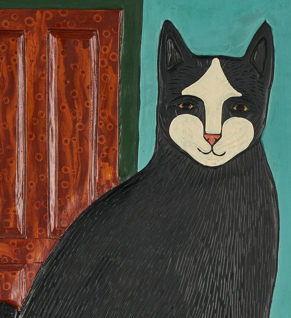 Lot 551: 2 Stephen Huneck Cat paintings