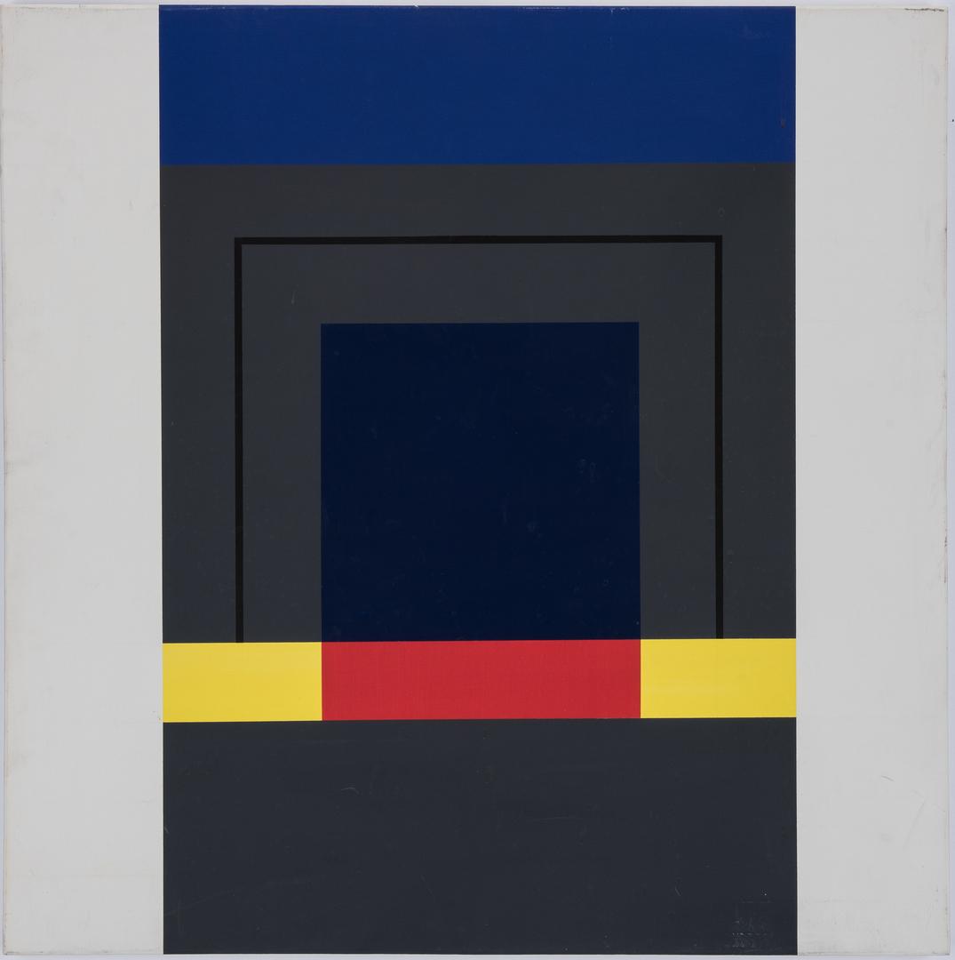 Lot 554: John Stuart Ingle O/C Abstract & Pen/Ink Abstract