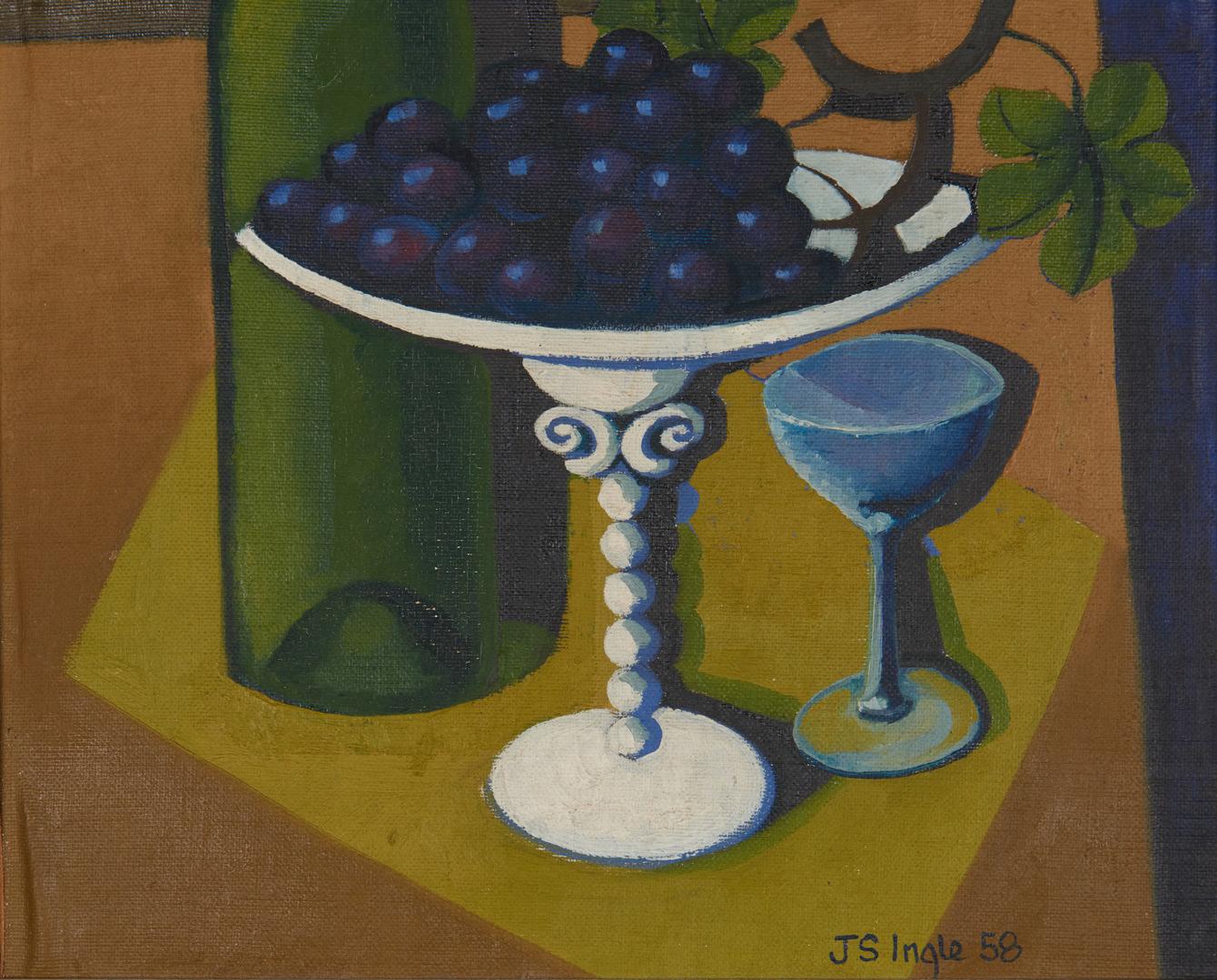 Lot 556: John Stuart Ingle O/B, Abstract Still Life