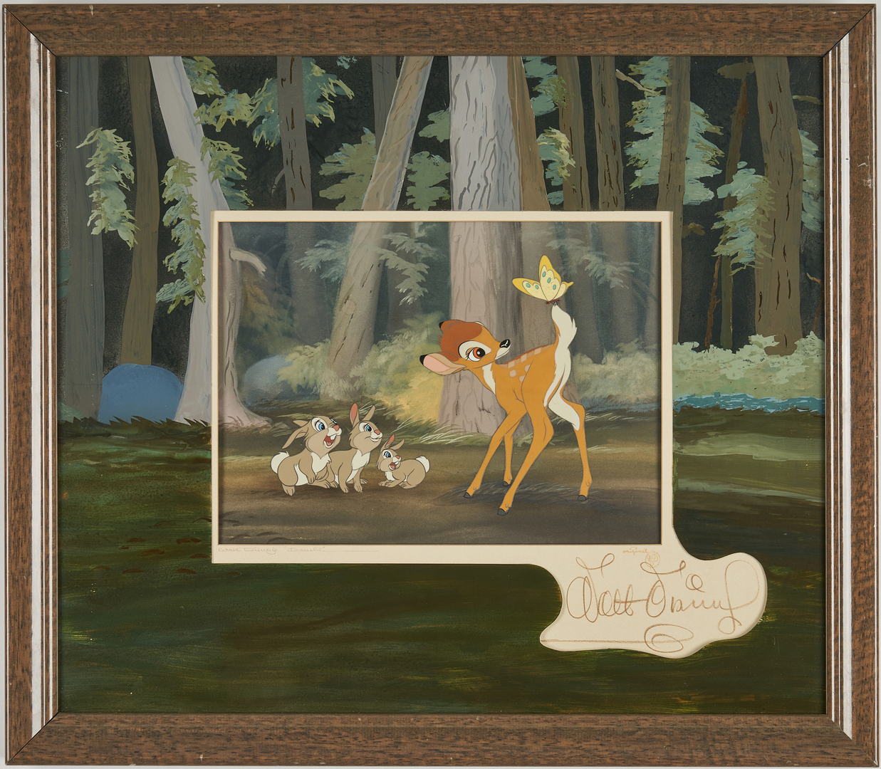 Lot 559: Walt Disney signed Bambi animation cel, 1942