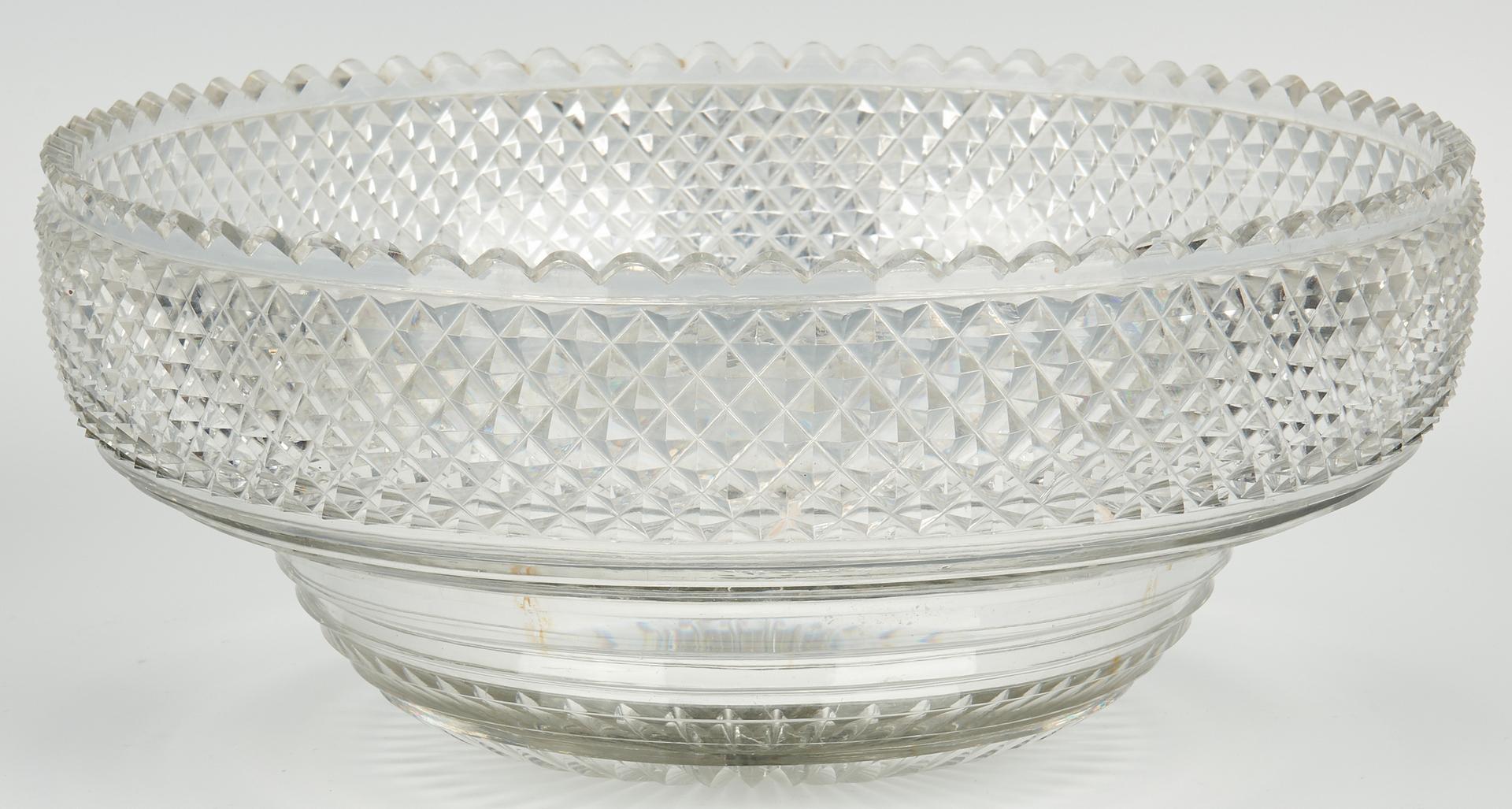 Lot 55: Emes & Barnard Georgian Sterling Centerpiece with Cut Glass Bowl