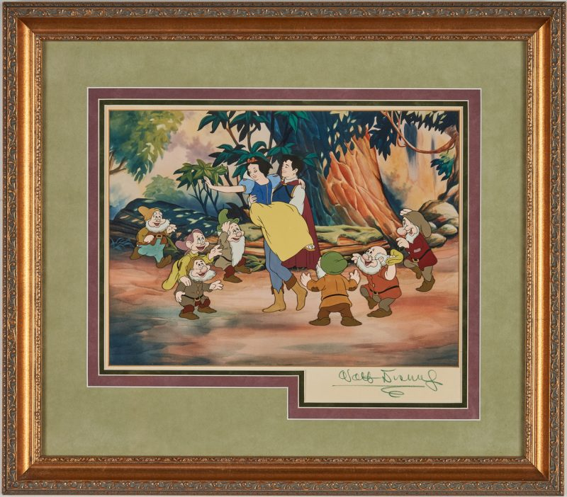 Lot 560: Walt Disney signed Snow White Animation Cel