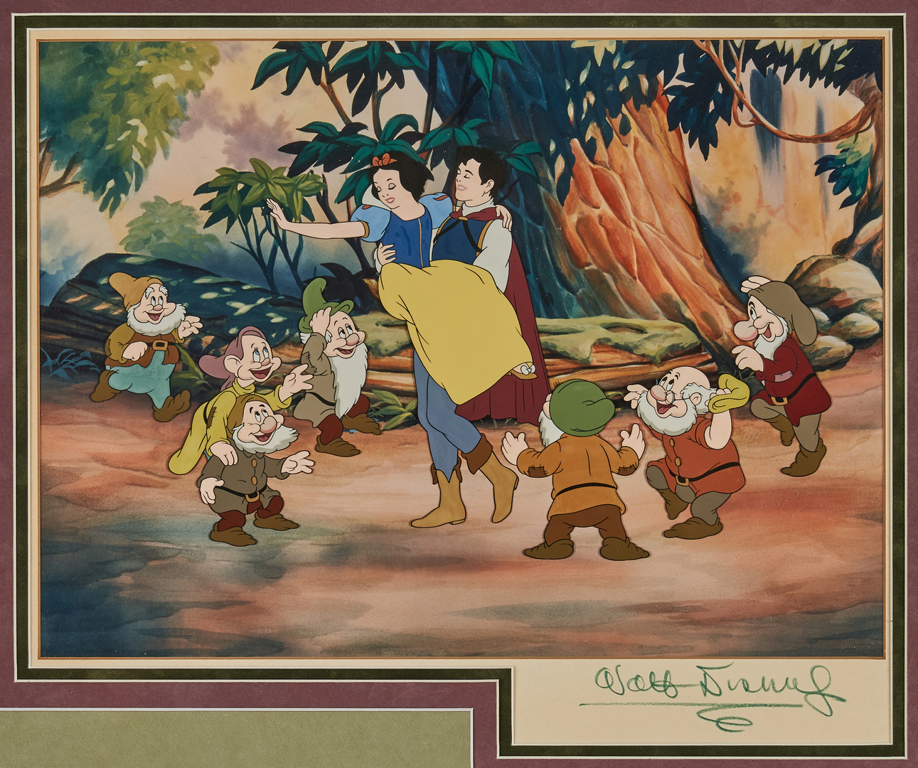 Lot 560: Walt Disney signed Snow White Animation Cel