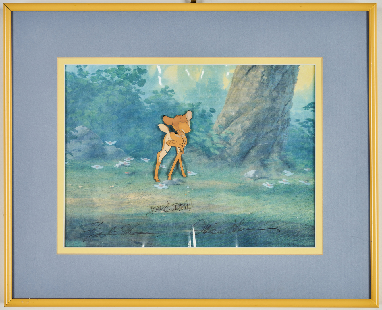 Lot 563: 2 Disney Bambi Animation cels