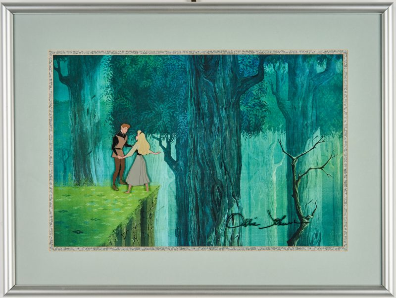 Lot 564: Sleeping Beauty Disney Animation Cel, signed Ollie Johnston