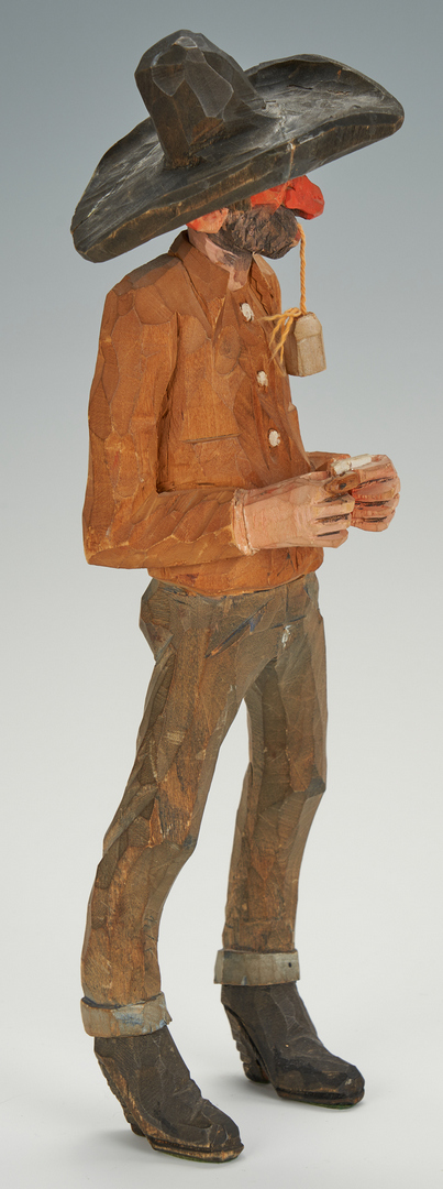 Lot 568: Andy Anderson Carved Cowboy Sculpture