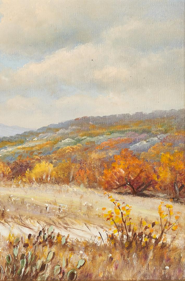 Lot 569: W. R. Thrasher O/C, Autumn Scene