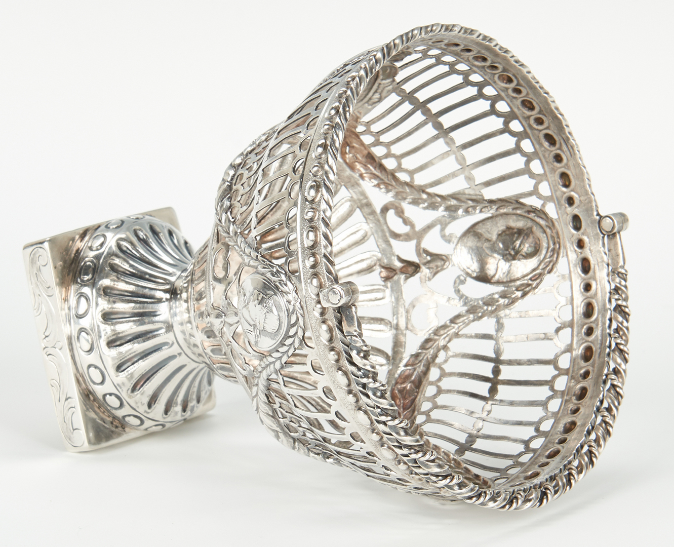 Lot 56: 18th Cent. English Sterling Silver Pierced Basket