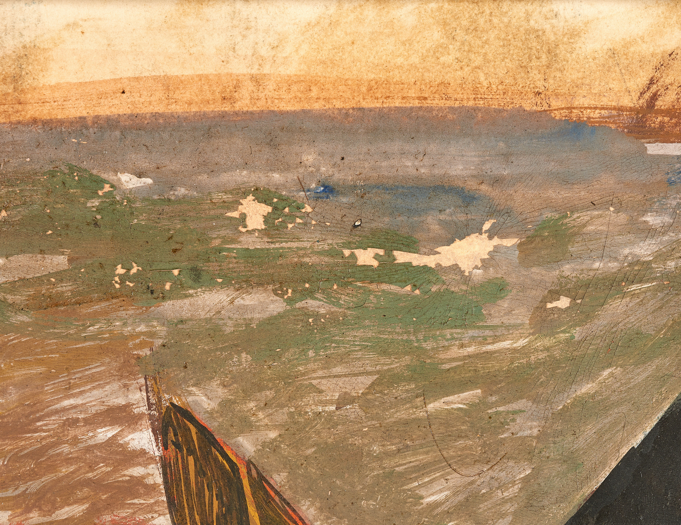 Lot 570: Seymour Fogel Painting, The Refugees