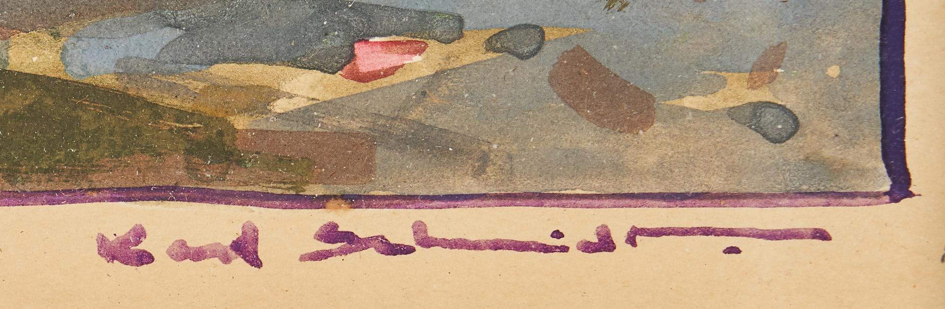 Lot 573: Pair Karl Schmidt California Scenes, Land and Sea