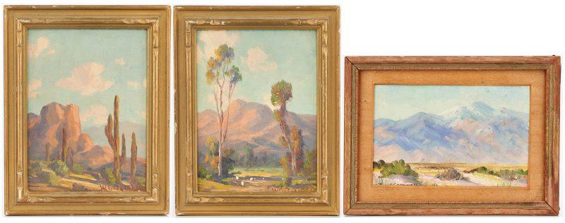 Lot 574: 3 Western paintings: Joane Cromwell, Walter Engelhardt