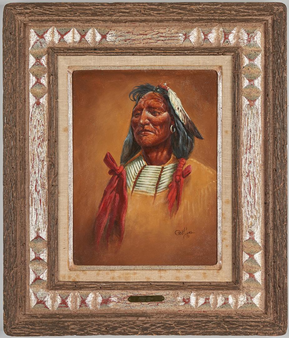 "Lot 575: Ted Long O/B Native American ""Lone Dog"""