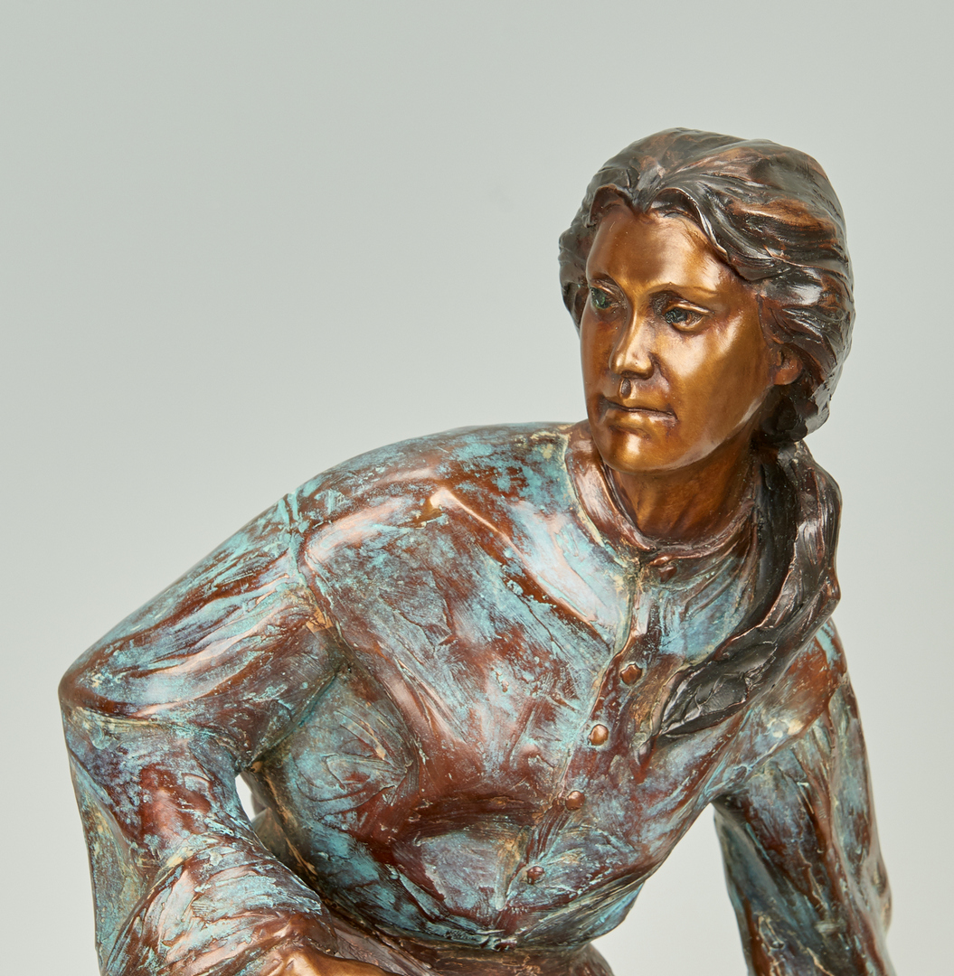 Lot 577: Veryl Goodnight Bronze Sculpture, Back from the Brink