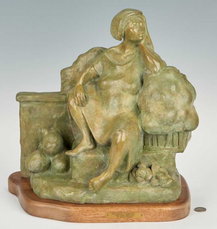 "Lot 578: Martha Pettigrew Bronze ""Melons"""